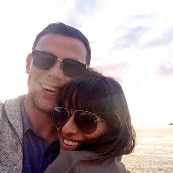 Antiga foto de Lea e Cory