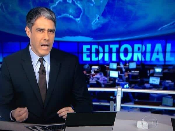 """TV Globo divulgou editorial durante o """"Jornal Nacional"""""""