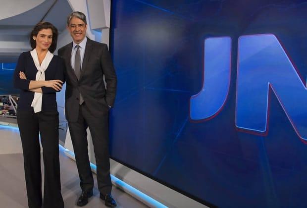 """""""Jornal Nacional"""" estreou novo cenário e com muita interatividade"""