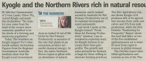 Kyogle and the Northern Rivers rich in natural resources