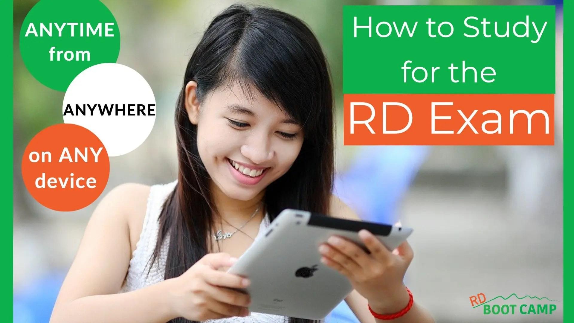 How do I study for the RD exam