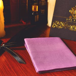 Single colored lilac pocket square handkerchief