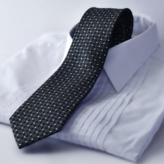 Luxurious silk diamond patterned black tie by RDB Royal
