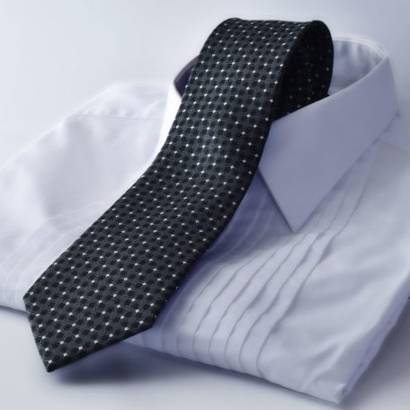 Black tie with a diamond pattern PURE LUXURY COLLECTION