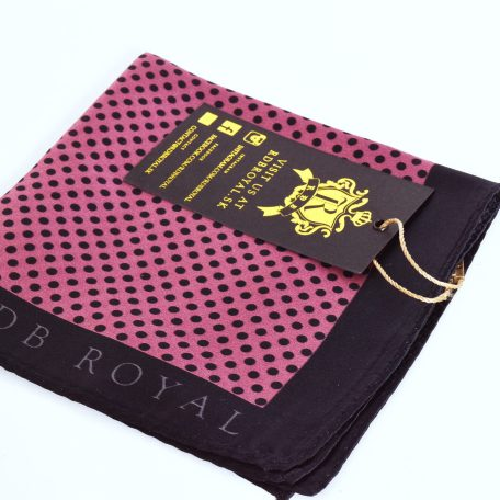 Luxurious pocket square in polka dot pattern