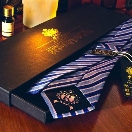 modro-ruzova-hodvabna-pasikava-kravata-rdb-royal-pure-luxury-collection