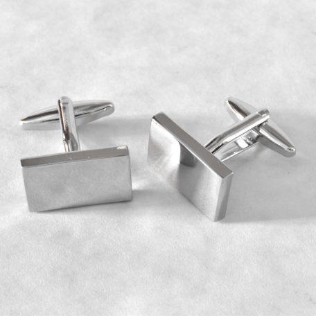Luxusné manžetové gombíky z extra lesklej zrkadlovej chirurgickej ocele