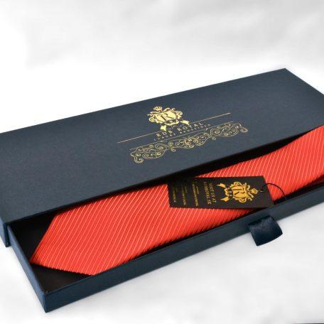 Krásna elegantná červená kravata RDB Royal