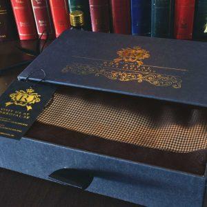 Luxusný pánsky elegantný zlatý šál do saka alebo obleku