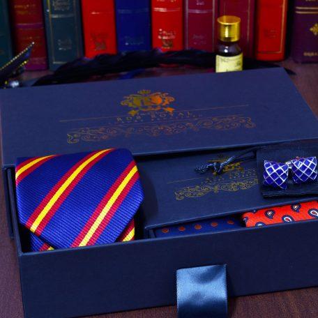 hodvábny pánsky darčekový set z kravaty a vreckoviek do saka