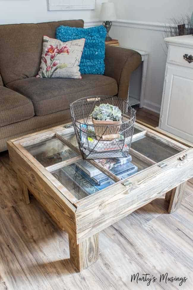 Repurposed Window Coffee Table