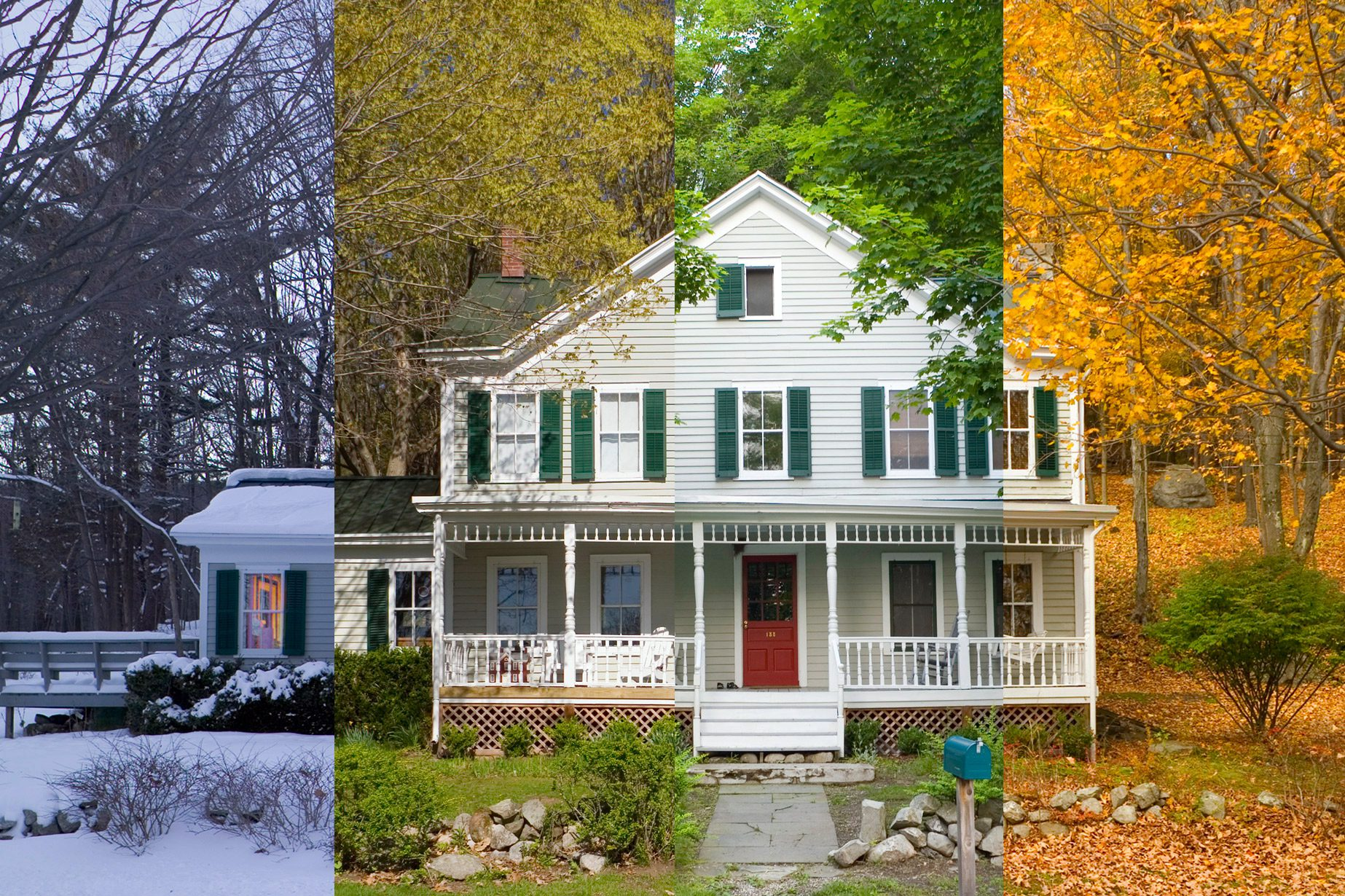 one house, four seasons
