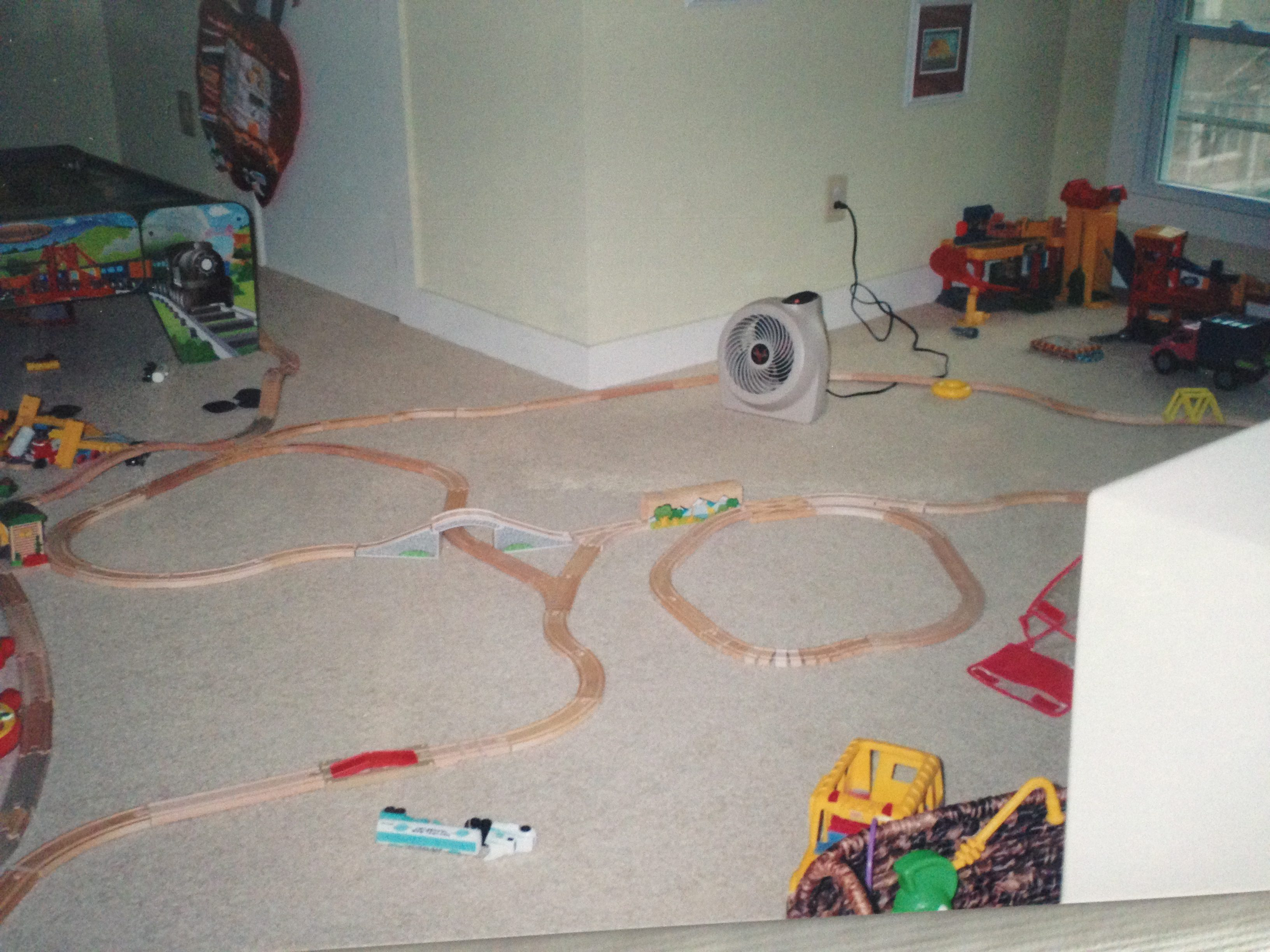 Tired of tripping on toy train tracks? Banish them to the attic.