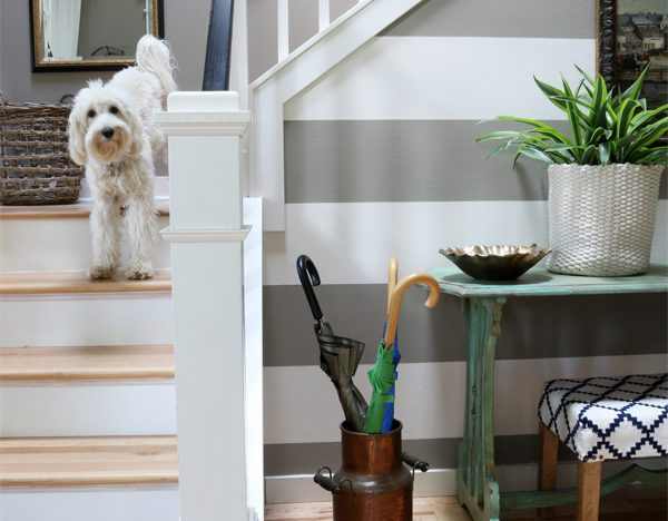 Organization expert Melissa Michael's charmingly inviting entryway