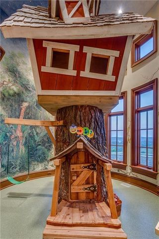 The indoor treehouse, adjacent to a children's bedroom