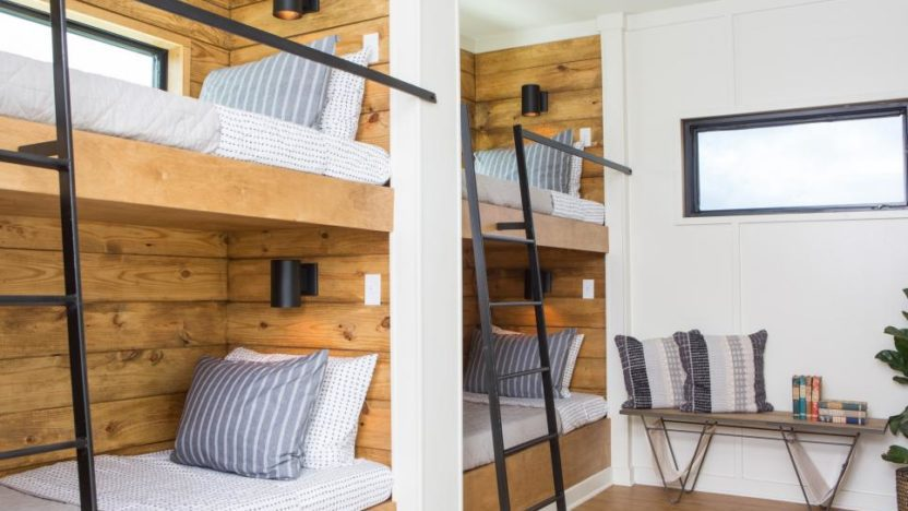 The master bedroom is accessed via this bunk room