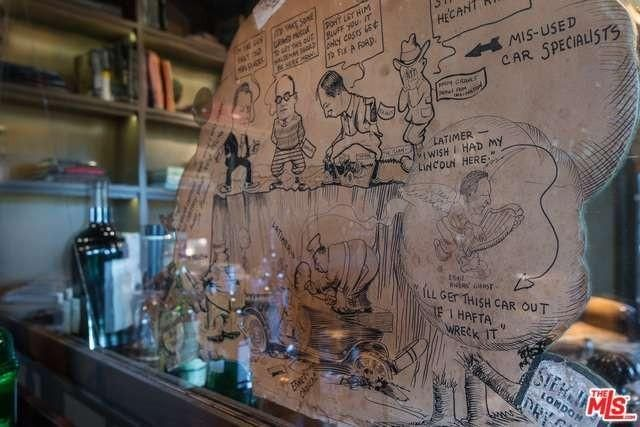 There's an original drawing with cartoons of the men that founded the place, including Will Rodgers and Harry Haldeman, grandfather of HR Haldeman of Watergate fame.