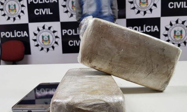 Mulher é presa tentando embarcar com drogas na Rodoviária