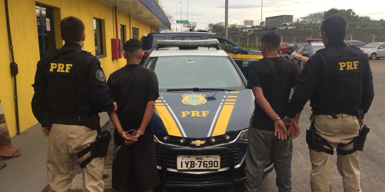 PRF apreende suspeitos de assalto na BR-116