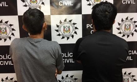 Dois suspeitos de receptação e corrupção de menores são presos em Passo Fundo