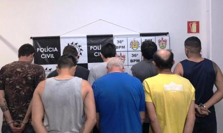 Polícia prende oito pessoas em Farroupilha
