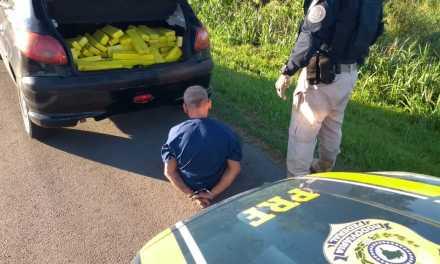 PRF apreende 110 quilos de maconha em Pelotas