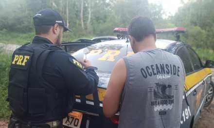 Motorista informa à PRF que estava dirigindo bêbado