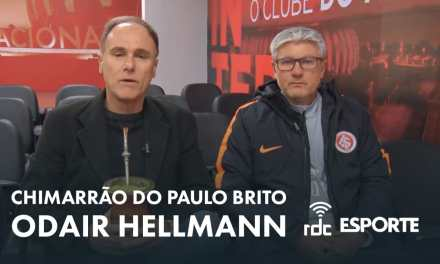 """Em entrevista a Paulo Brito, Odair Hellmann revela: """"vamos acabar usando os reservas"""""""