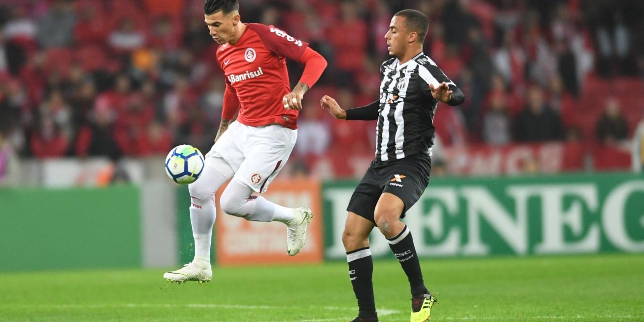 Após um empate e uma derrota, Internacional enfrenta Ceará nesta quinta-feira