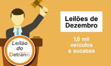 Leilões do DetranRS ofertam 1,6 mil veículos e sucatas em dezembro