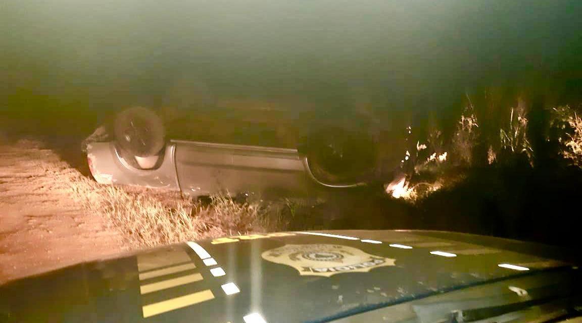 PRF prende traficante que fugiu da abordagem e capotou caminhonete em Iraí