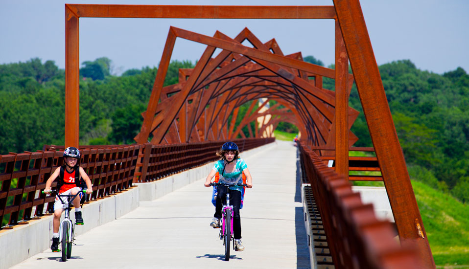 From Here To There High Trestle Trail Bridge Public Art