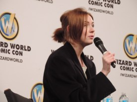 Karen Gillan, who was Amy Pond in Doctor Who, at Indianapolis Wizard Word Comic Con in 2015.