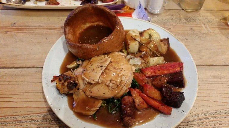 Roast dinner at The Duke of Wellington, Notting Hill