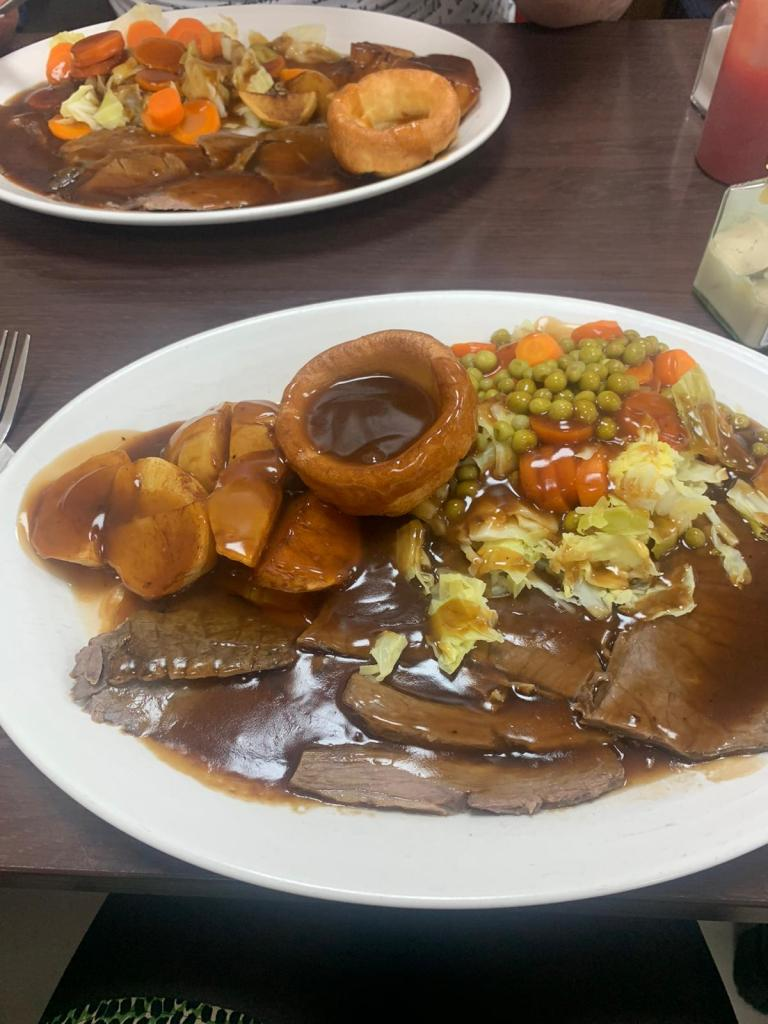 Poplar Cafe Roast Dinner With Peas