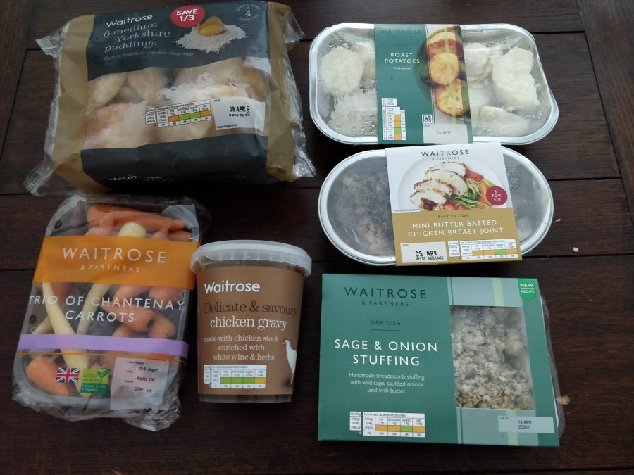 Roast dinner items from Waitrose