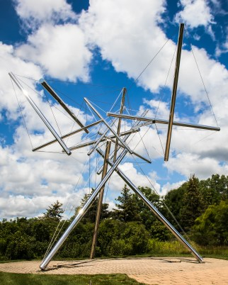 """""""B-Tree II,"""" by sculptor, photographer, and mathematician Kenneth Snelson."""