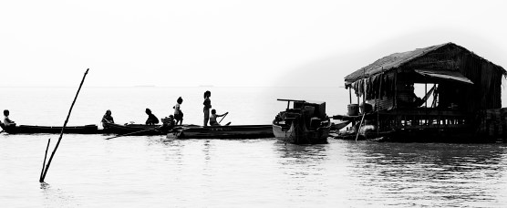 Two hours south of Siem Reap Cambodia is a village that floats on the water. The Kampong Klang floating village on Cambodia's Tonle Sap Lake. Adrift on the water, engines silenced, all I could hear was the sound of children's laughter echoing off the water and a poem running through my mind.