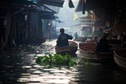 Photographing the floating markets in Thailand