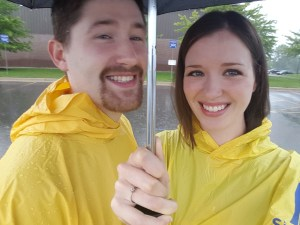 Thanks for the ponchos, Mom!
