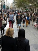 Crowds of Barcelona's Las Rambla