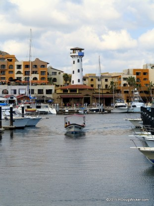 Motoring into the Marina