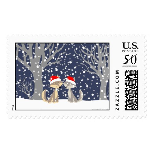 Christmas wolves stamps stamp
