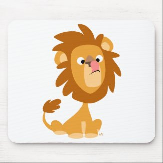 Silly Lion! cartoon mousepad mousepad