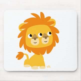 Two-Faced the cutest cartoon lion mousepad mousepad