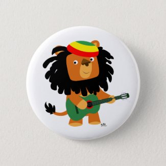 Lion of Zion button badge button