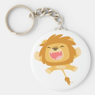 Cartoon Pouncing Lion keychain keychain