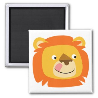 Yummy lion button magnet magnet