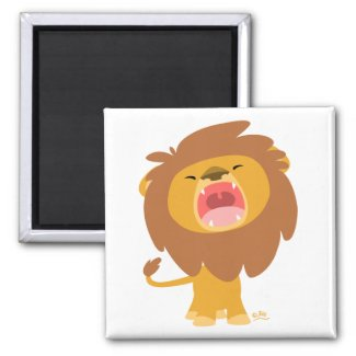 Cartoon Roaring Lion magnet magnet