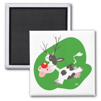 Christmas reindeer magnet magnet